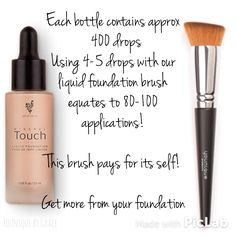 Touch Mineral Liquid Foundation and the Liquid Foundation Brush #younique