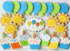 1st Birthday Cookies but instead of these shapes, all of the animals from Brown Bear