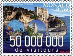Ozeanografisches Museum auf Briefmarke von Monaco