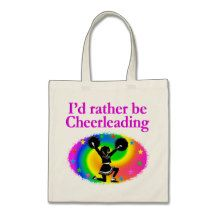 CUTE AND COLORFUL CHEERLEADING DESIGN BUDGET TOTE BAG http://www.zazzle.com/mysportsstar/gifts?cg=196898030795976236&rf=238246180177746410   #Cheerleading #Cheerleader #Cheerleadinggifts #Cheerleadergift #loveCheerleading #BowtoToe