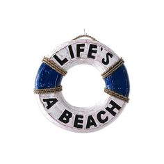 NOVICA Hand Made Wood Nautical Sign Beach Ring from Indonesia (6.265 HUF) ❤ liked on Polyvore featuring home, home decor, wall art, beach, fillers, text, sign, wall decor, saying and quotes