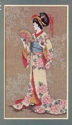 Free cross stitch pattern - geisha