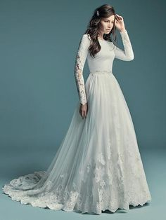 Wedding Dress out of Maggie Sottero – Olyssia Long-sleeve wedding dress – Olyssia by Maggie Sottero. See more Maggie Sottero Wedding Dresses on WeddingWire! Maggie Sottero Wedding Dresses, Wedding Dress Sleeves, Long Sleeve Wedding, Long Wedding Dresses, Boho Wedding Dress, Bridal Dresses, Mermaid Wedding, Gown Wedding, Dress Lace