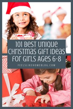 101 awesome & unique Christmas gift ideas for girls who are and 8 years old - These fun ideas are sure to please the little girls in your life! With 101 ideas, there is something on this list for every girl for the holidays or even for birthdays! Math Activities For Kids, Christmas Activities, Fun Math, Play Based Learning, Learning Through Play, Fun Learning, Fun Ideas, Gift Ideas, Overwhelmed Mom