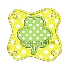 Loop Frame Clover Applique - 4 Sizes!   What's New   Machine Embroidery Designs   SWAKembroidery.com All Things Applique