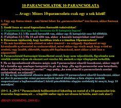10-parancsolatok 10-parancsolata (by BS)
