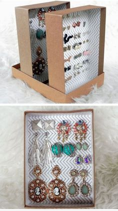 Turn Shoe Box into Jewelry Organizer | 18 Life Hacks Every Girl Should Know | Easy DIY Projects for the Home #beautyhackseverygirlshouldknow