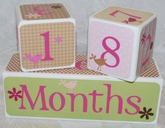 Age Cubes  Photo Blocks  Personalized Blocks by auntjjsattic, $65.00