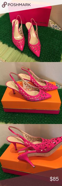 "Hot Pink Kate Spade Pumps Kate Spade Laser Cut Out Hot Pink Pumps, worn 3 times , comes with Kate Spade Box, 3"" heel Kate Spade Shoes Heels"