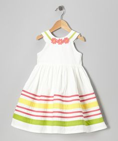 Take a look at this Ivory Bow Dress - Infant  Toddler by Donita on #zulily today!