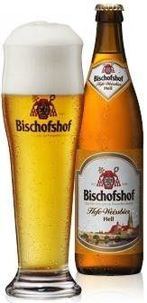 Cerveja Bischofshof Hefe-Weißbier Hell, estilo German Weizen, produzida por Brauerei Bischofshof, Alemanha. 5.1% ABV de álcool.