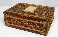 French Victorian accessories box bronze dore