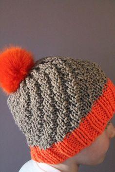 Bonnet Crochet, Crochet Hats, Bonnet Hat, Beret, Winter Hats, Orange, Lily, Knitting, Blog