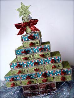 Mini Matchbox Advent Calendar by *UnderTheWillowTree*, via Flickr