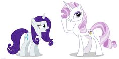 Fleur the posing pony and Rarity - PNG by Larsurus on deviantART