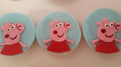 Peppa Pig cupcakes created by Mary Paradissis.