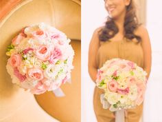Beautiful pastel colored bouquet on Joseph & Shanes wedding. #js012015