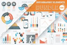 40% OFF #Infographic Elements #Bundle by Infographic Paradise on Creative Market