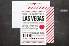 Vegas wedding invite for Gabe & Jessie