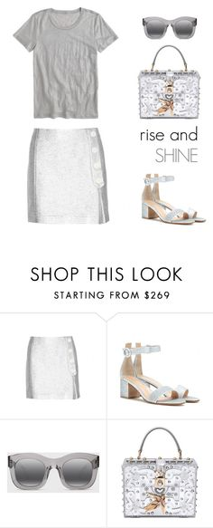 """""""rise and shine"""" by icelle ❤ liked on Polyvore featuring Maison Kitsuné, Gianvito Rossi, Illesteva, Dolce&Gabbana and J.Crew"""