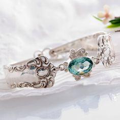 Vintage Spoon Bracelet  Oxford Silverware Bracelet  by mcfmiller