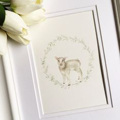 Items similar to Lamb Nursery Art, Lamb Art, Lamb Themed Nursery, Gender Neutra Nursery, Lamb Decor on Etsy Sheep Nursery, Lamb Nursery, Baby Bedroom, Im Happy, Nursery Themes, Girl Room, Pale Pink, The Hamptons, Babys