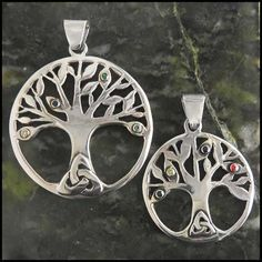 Silver Celtic Family Tree Mothers Pendant | Walker Metalsmiths Celtic Jewelry