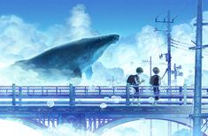 Aquatic animal's swimming in the sky, not underwater. Zerochan has 236 Aquatic Animal in the Sky anime images, and many more in its gallery. Whale Art, Summer Wallpaper, Animation Art, Sky Anime, Fantasy Landscape, Art, Anime Wallpaper, Art Wallpaper, Interesting Art