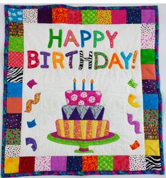 Happy Birthday Quilt Quilted Happy Birthday Wall Hanging Or Baby Happy Birthday Wishes For Wall