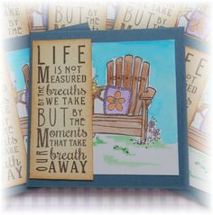 3x3  Note cards Life is Measured  Mini Note Cards by HeartsCalling on ETSY