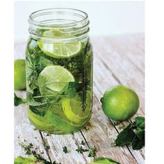 Perk up today's drinking water with lime, mint and thyme. Refreshingly delicious!