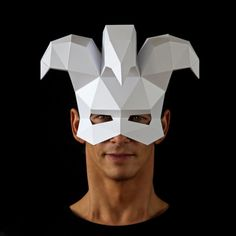 JESTER Mask - Make a Venetian Harlequin mask with this paper craft PDF mask template