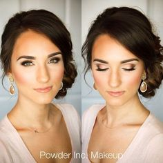 Makeup Wedding -                                                      Wedding makeup and hair Crystal Thomas her facial structure looks like yours #hairandmakeupwedding
