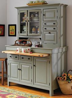 Click to Enlarge — Kitchen remodels in Lincoln, Nebraska. Victorian Architecture Styles: Victorian Kitchen Dresser.