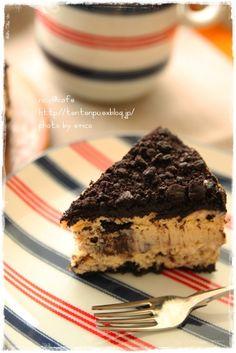 *nico@cafeおやつ*クッキークリームチーズケーキ冷蔵庫に、封を切ってあるでっかいブロックで買ったkiriのクリームチーズが限界を迎えそうだったので...