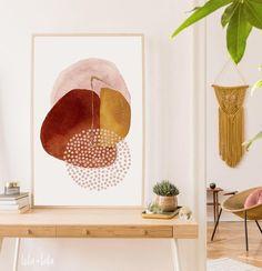 Abstract Printable Wall Art Boho Decor Watercolour Blush | Etsy Frame Sizes, Modern Boho, Dusty Pink, Printing Services, Boho Decor, Printable Wall Art, Watercolour, Blush, Kids Rugs
