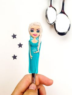 Excited to share the latest addition to my #etsy shop: Frozen Spoon Gift Idea for Girl ❤️❄️ #toys #blue #birthday #white #polymerclay #coolgiftsidea #frozen #frozenfigurine #giftideaforgirl #elsa #princess