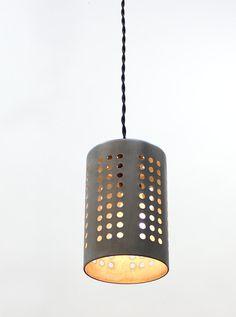 Upcycled zinc pendant light by ParisEnvy on Etsy, $44.00