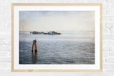Fisherman's Shack Print, Coastal Decor, Ocean View, Seascape, Instant Download, Ocean Printable, Ocean Wall Art, Textured Overlay by FlowersAndLemonPie on Etsy