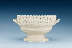 Rörstrand (Swedish) creamware basket,  c. 1800.
