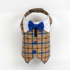 Tuxedo Harnesses Vests for Dogs Blue Plaid - $44.00