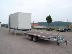 Drop off suitcase system – special and special trailers – light trucks and special trailers – trailers & bodies – HRB Heinemann AG - Motor Vehicles Work Trailer, Trailer Diy, Trailer Plans, Trailer Build, Utility Trailer, Atv Trailers, Custom Trailers, Camping Pod, Diy Camping