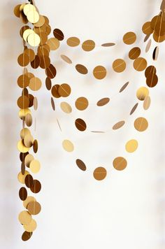 Antique gold garland - 21 SHIMMER COLOR OPTION - UNLIMITED COLOR COMBO - Shimmer garland -  Holiday decoration - Paper garland