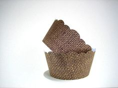 150 Burlap Cupcake Wrappers Shabby Chic Rustic by brightsoslight from brightsoslight on Etsy. Saved to My Wishlist.