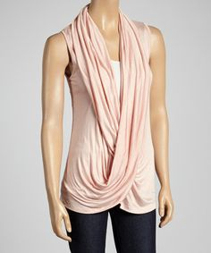 This Dusty Pink Lace-Back Crisscross Drape Top by sun n moon is perfect! #zulilyfinds