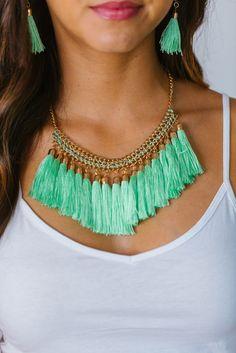 Tassel Necklace Set