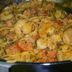 Cajun Shrimp & Sausage Pasta ~ This was fairly easy to make (although it did require a little bit more prep work than usual) and a little spicy, but oh so yummy!