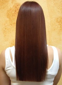 Sleek hair after keratin smoothing treatment