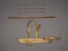 Лук стрелы колчан, Апачи. 1870 год. Б.