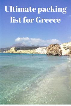 Ultimate packing list for your summer holidays to Greece
